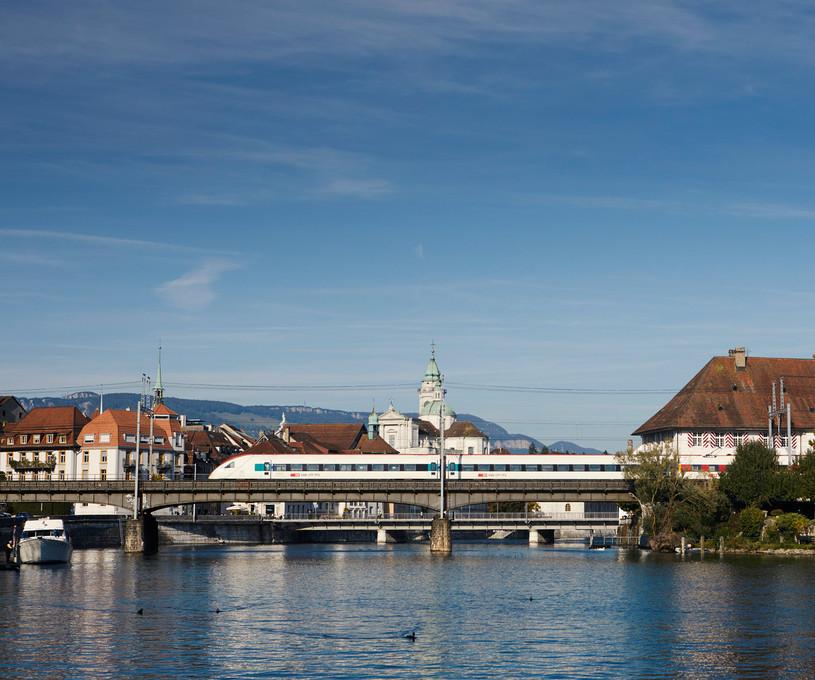 Anreise mit dem Zug nach Solothurn