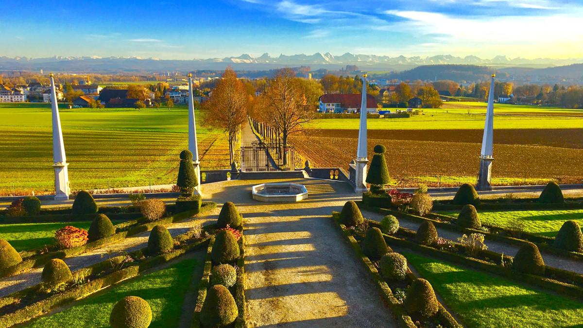 Barockgarten, Schloss Waldegg, Fedlbrunnen